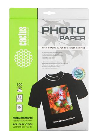 Бумага Cactus для термопереноса картинок