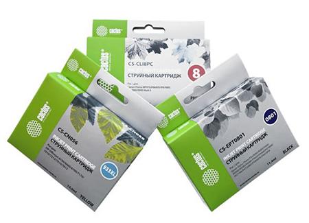 CACTUS информирует об улучшении упаковки совместимых струйных картриджей