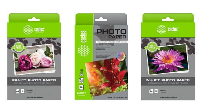Ассортимент фотобумаги Cactus пополнился новыми позициями